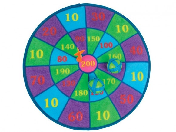 Kids velcro dart board by RICE