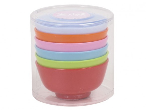RICE Melamine Dipping Bowls Assorted Colours