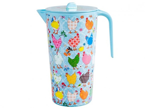 Melamine jug with hen print by RICE Denmark