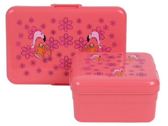 Kids lunch box with flamingo print by RICE - Set of 2