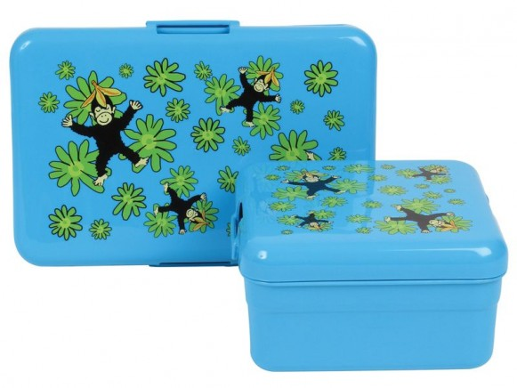 Kids lunch box with monkey print by RICE - Set of 2