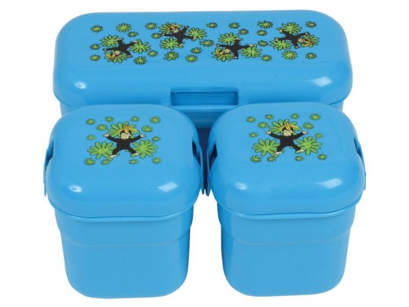 Kids lunch box with monkey print by RICE (Set of 3)
