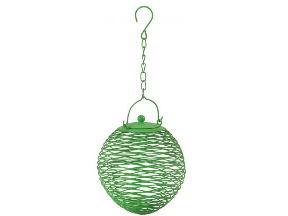 Globe shaped bird feeder in green by RICE