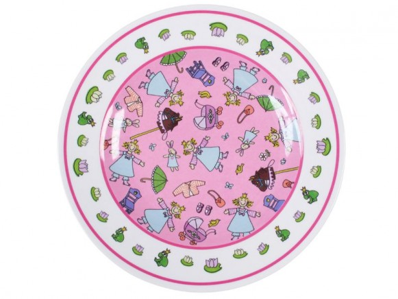 Kids melamine lunch plate for girls with princess by RICE
