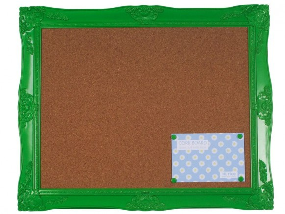 Acrylic memory board with 4 pins in green by RICE Denmark