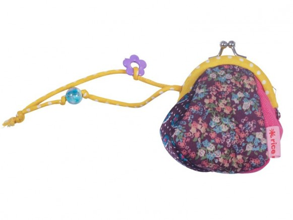 Patchwork style mini purse with little flowers by RICE