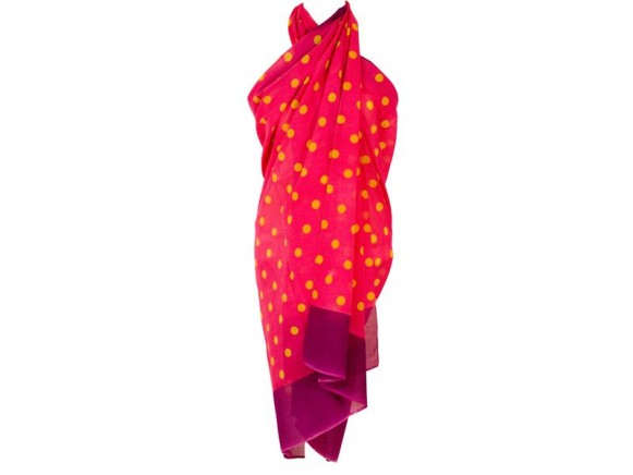 Voile sarong in fuchsia with polka dots by RICE