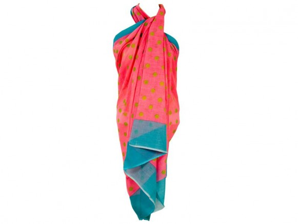 Voile sarong in pink with polka dots by RICE