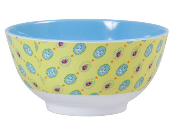 Melamine bowl two tone with elegance print by RICE