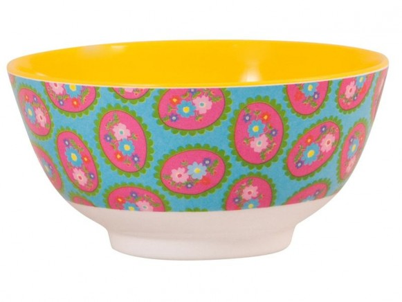 Melamine bowl two tone with cameo print by RICE
