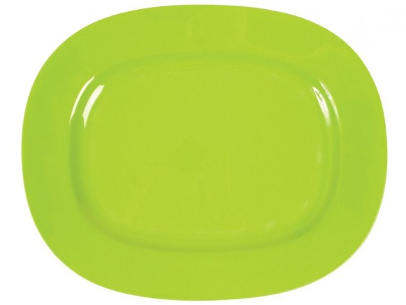 Melamine serving dish in green by RICE