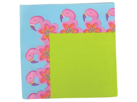 Party time paper napkin with flamingo print (16 pieces) by RICE