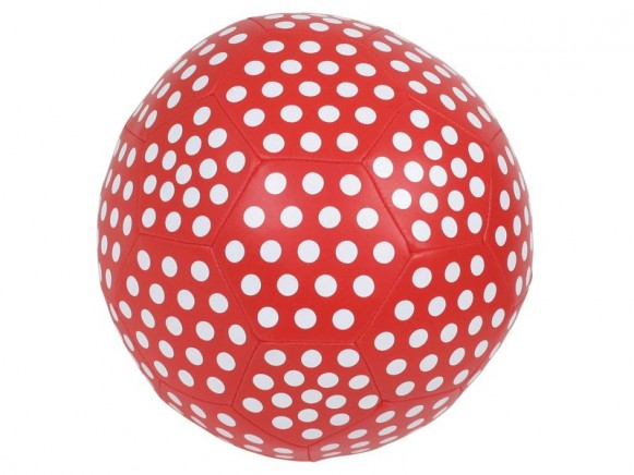 Large soft ball with red polka dot by RICE