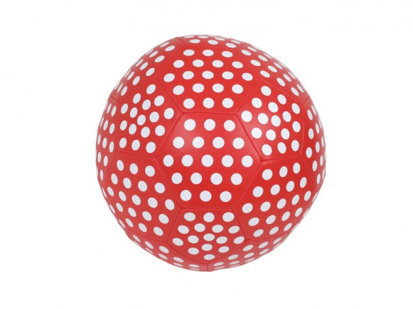 Small soft ball with red polka dot by RICE