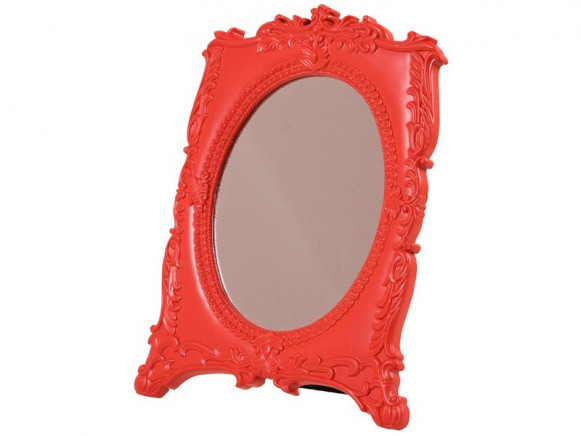 Louis 16. style acrylic mirror in red by RICE Denmark