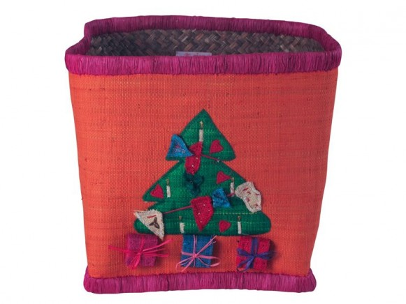 Raffia basket with tree by RICE Denmark