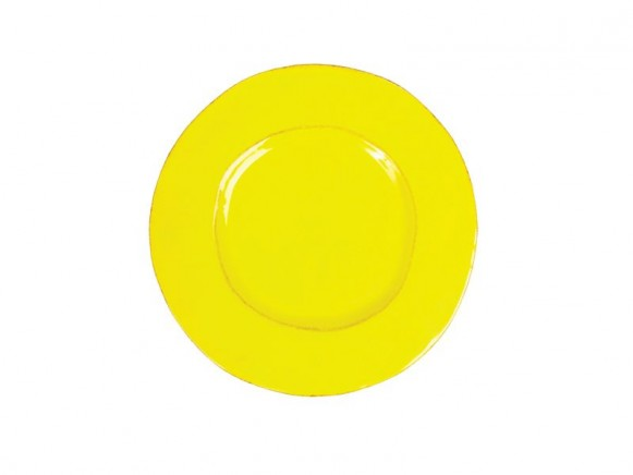 Organic shaped side plate in yellow by RICE