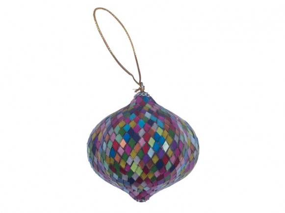 X-mas glass mosaic ornaments in bulb shape by RICE