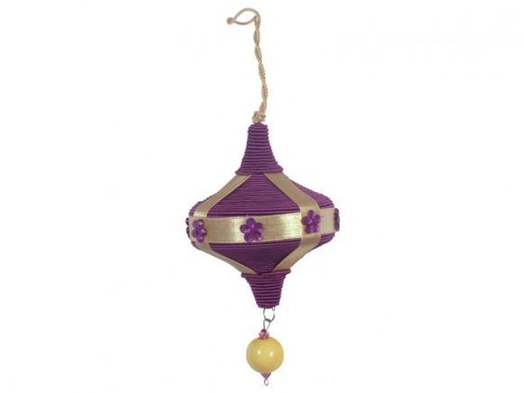 X-mas silk tread ornament in purple by RICE