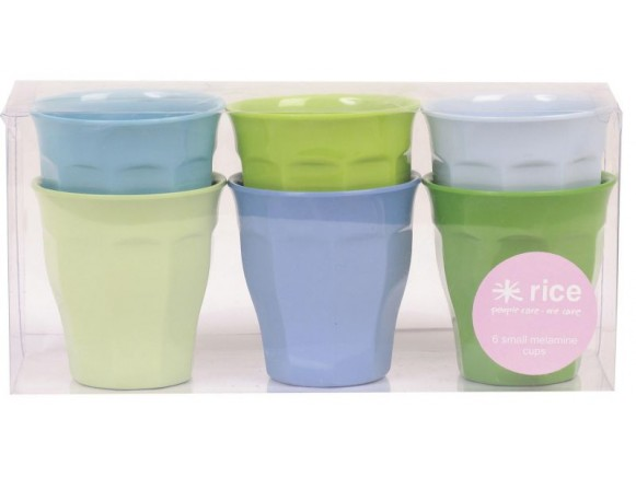Small melamine cups (green / blue) by RICE
