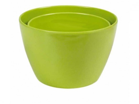 Melamine bowl by RICE (set of 2 - green)
