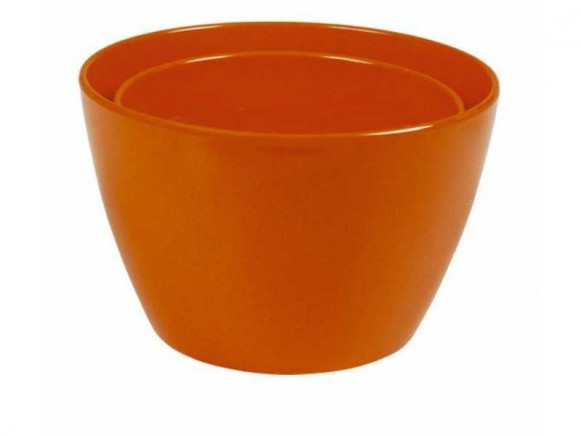 Melamine bowl by RICE (set of 2 - orange)