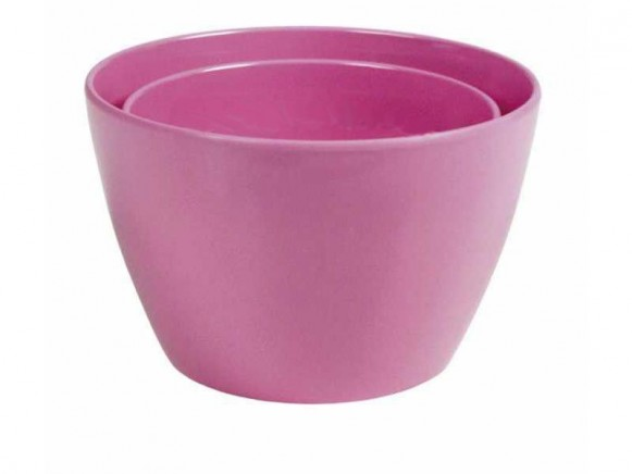 Melamine bowl by RICE (set of 2 - pink)