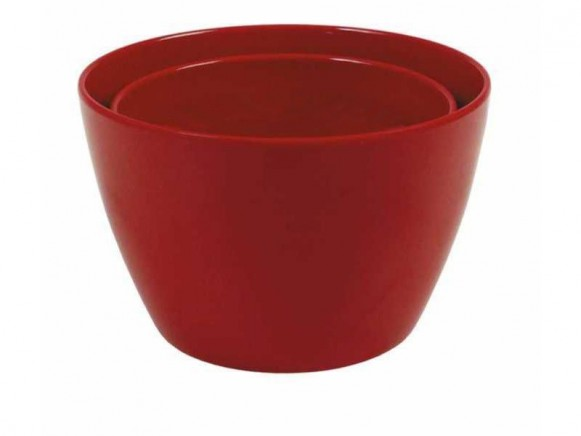 Melamine bowl by RICE (set of 2 - red)
