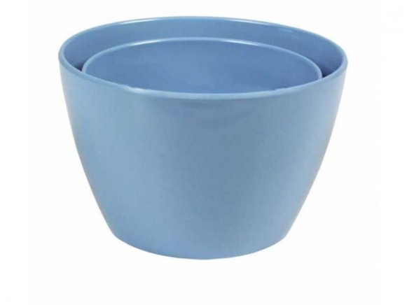 Melamine bowl by RICE (set of 2 - turquoise)