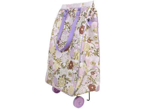 Foldeable Thermo Shopping Cart with Lavender Flower Print by RIC
