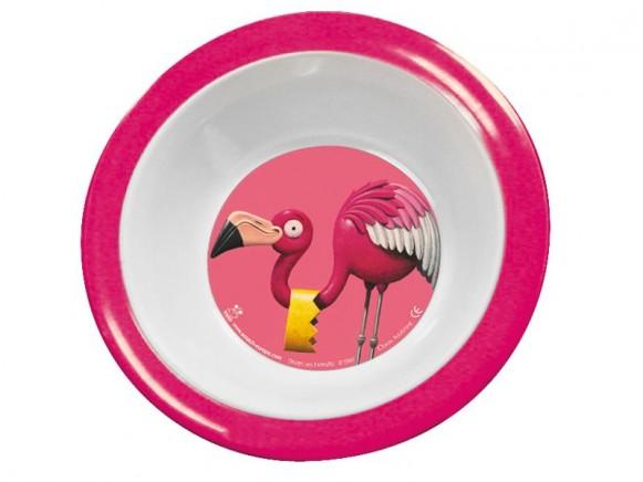 Melamine bowl with flamingo by Scratch