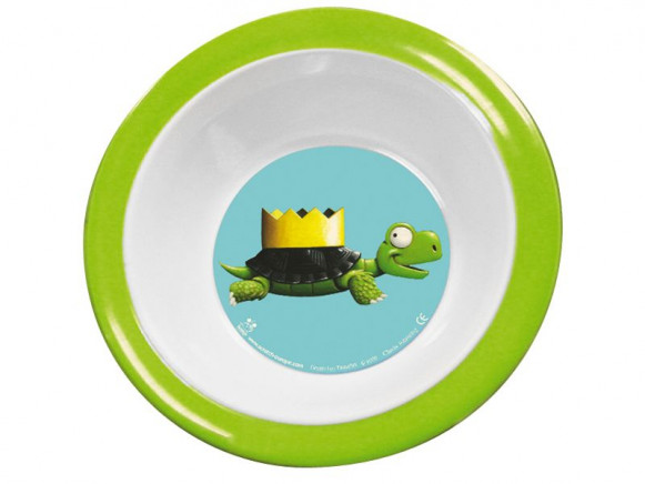 Melamine bowl with turtle by Scratch