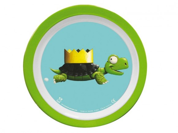 Melamine plate with turtle by Scratch