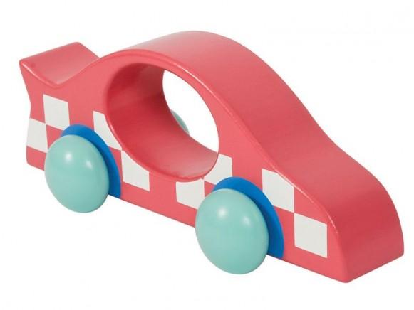 Wooden racing car in red by Sebra