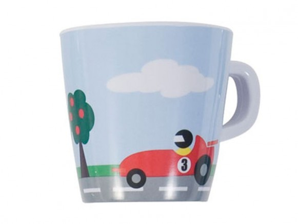 Melamine cup with race track by Sebra