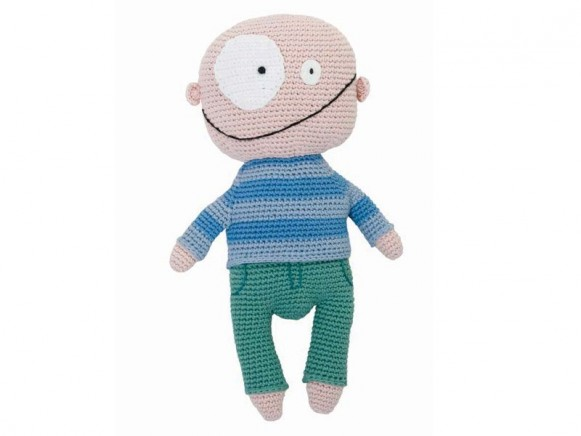 Crochet doll silly boy by Sebra