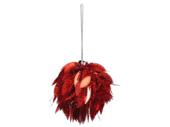 Funky Sequined X-Mas Ball by RICE (red)