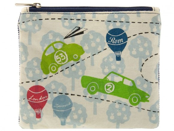 Little cotton purse with traffic print by Wendekreis