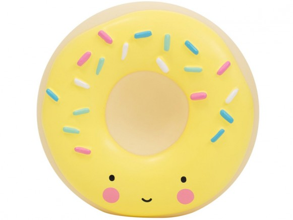 A Little Lovely Company money box donut yellow