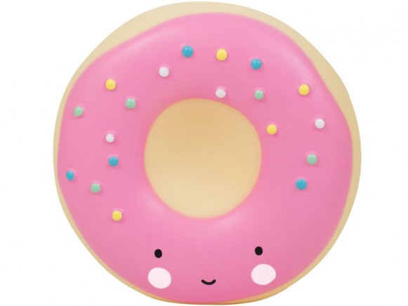 A Little Lovely Company money box donut pink