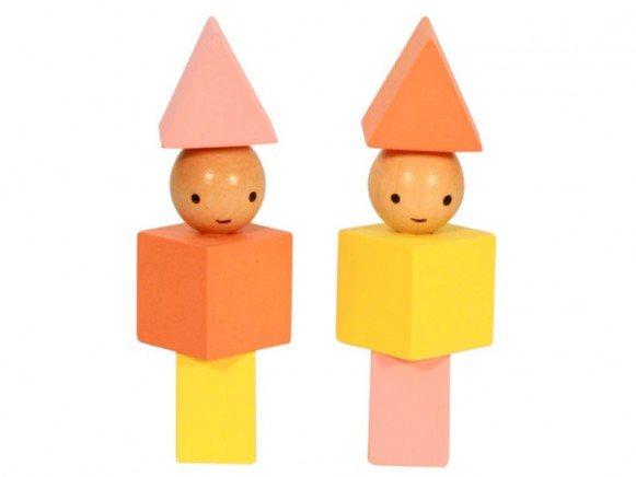 A Little Lovely Company Blocks Little People yellow - orange