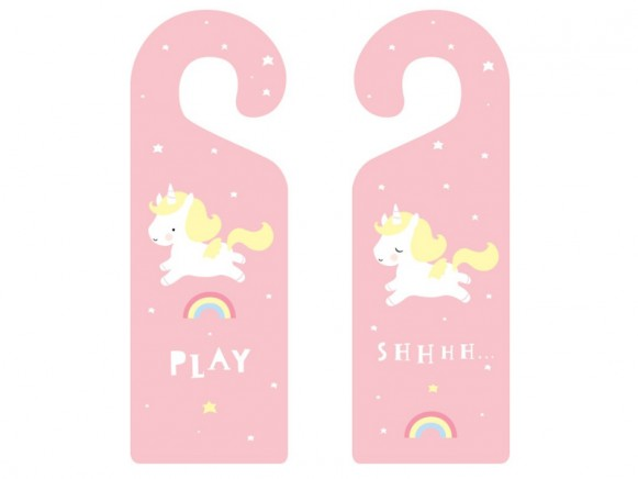 A Little Lovely Company Doorhanger Baby Unicorn