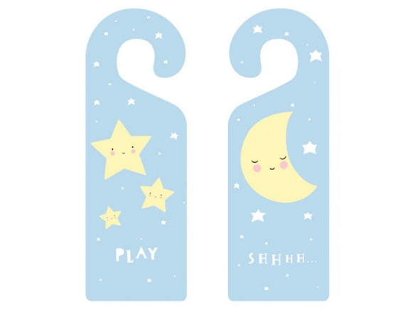 A Little Lovely Company Doorhanger Baby Stars & Moon