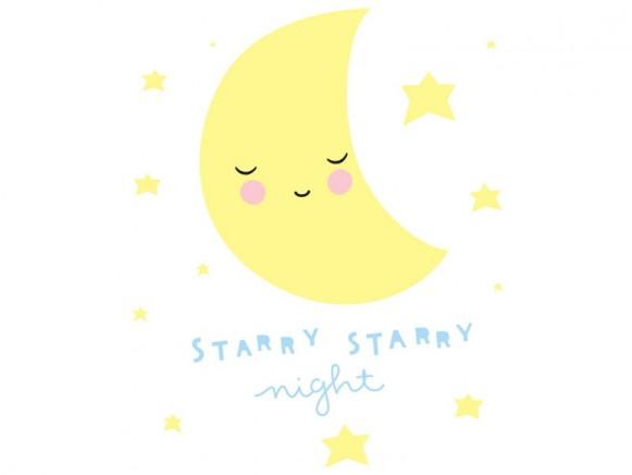 A Little Lovely Company wall sticker moon