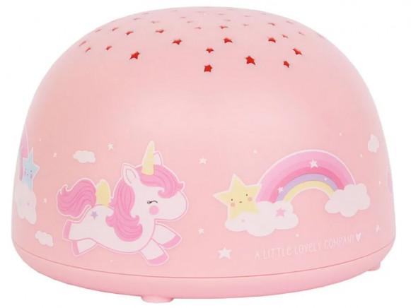 A Little Lovely Company Projector Light Unicorn Takatomo De