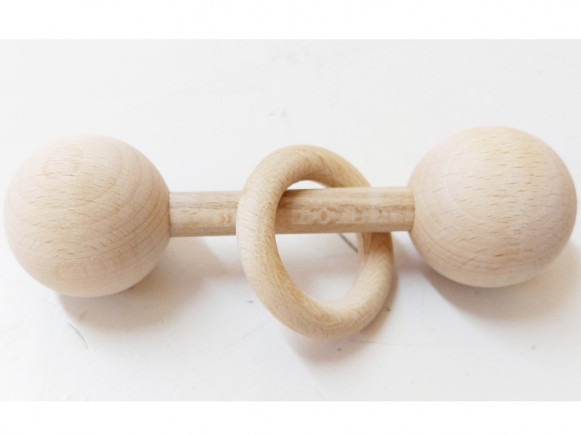 &me Wooden Rattle