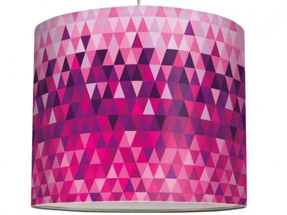 anna lampe lamp shade Triangles purple