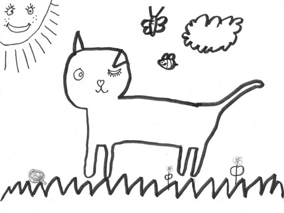 Colouring Image CAT