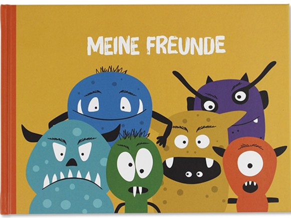 Ava & Yves Memory Book All my Friends MONSTERS