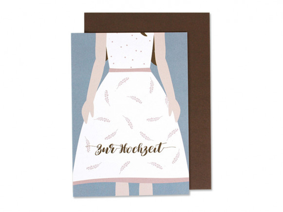 Ava & Yves Greeting Card MARRIAGE